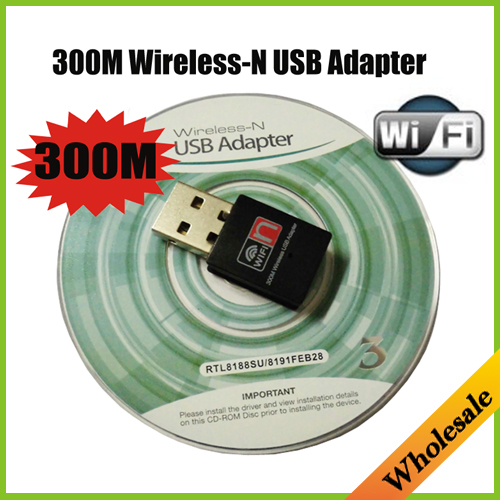 New Mini 300M Wifi 2.4Ghz lan Card adaptador USB Wireless-N 300Mbps Wi-fi Network adapter,Wholesale Free Shipping Dropshiping(China (Mainland))