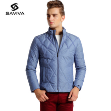2016 Fashion Winter New Men Jacket Waterproof Plus Size Autumn Solid Stitching Single-Breasted White Duck Down Jacket Men Thin(China (Mainland))