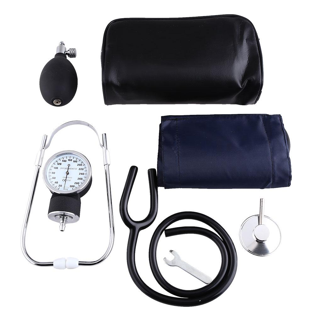 Arm BP Cuff Blood Pressure Monitor Kit With Matching Seperate Stethoscope Aneroid Sphygmomanometer Measure