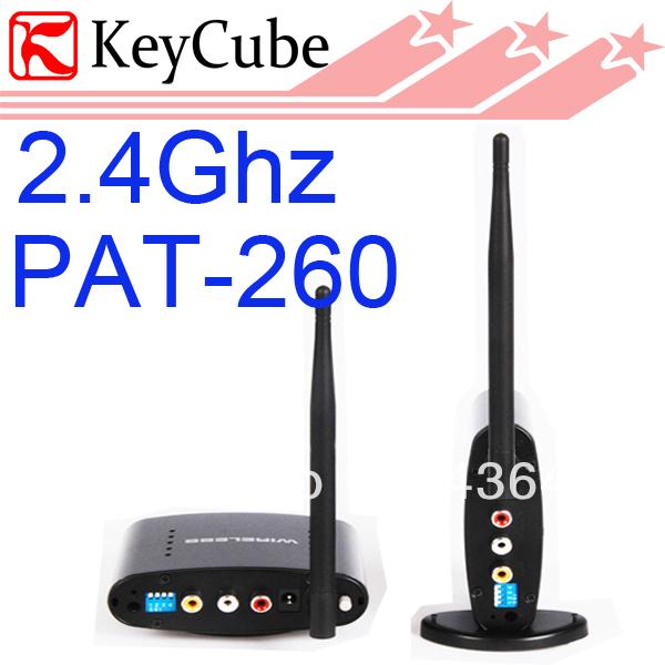 2.4G Wireless AV Transmitter With IR Remote Control wireless av sender PAT-260 UP to 350M Free Shipping(China (Mainland))