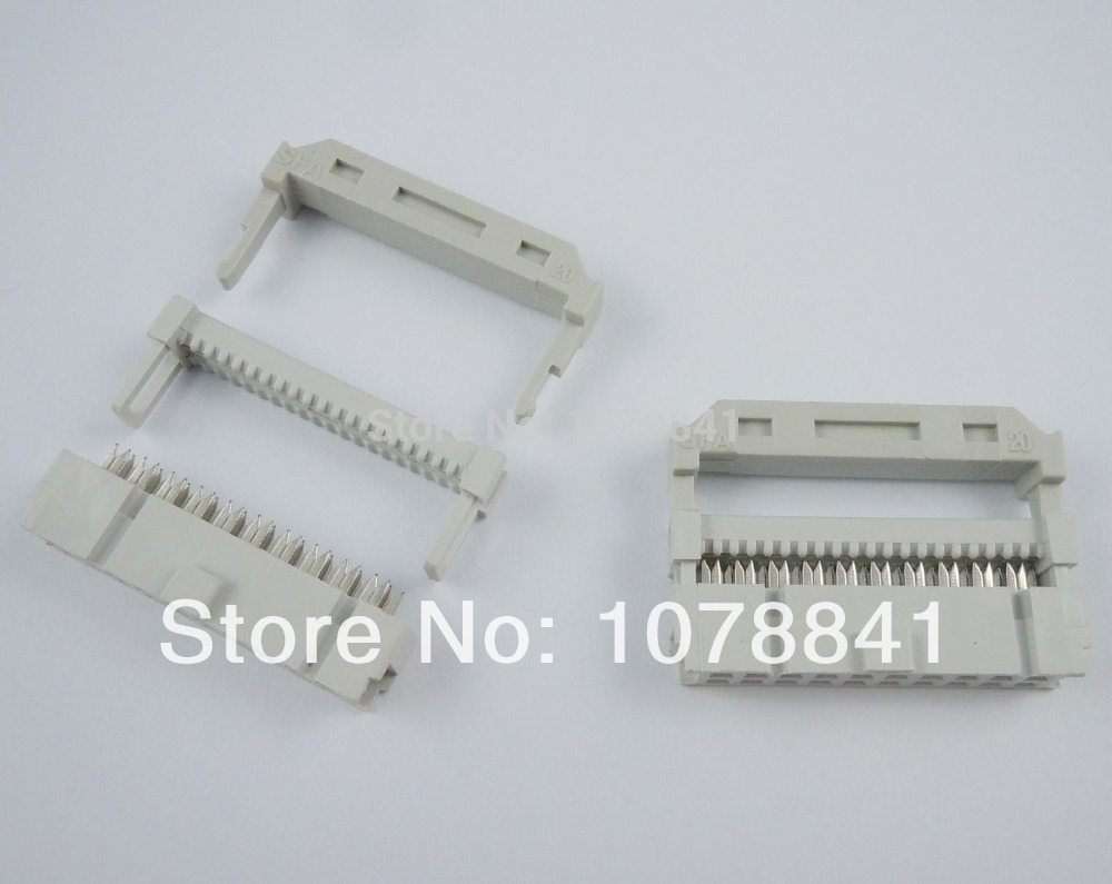 10 Pcs Per Lot 2.54mm Pitch 2x10 Pin 20 Pin IDC FC Female Header Socket Connector<br><br>Aliexpress