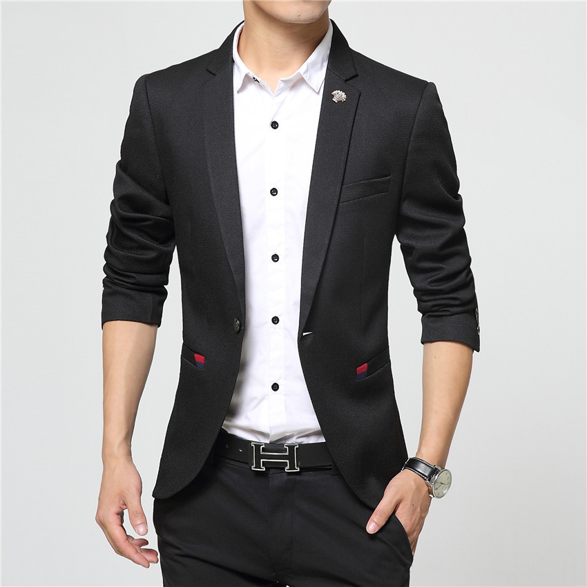 2016 New Spring Style Luxury Business Pocket Casual Suit Men Blazer Set Professional Formal Wedding Dress Design Plus Size(China (Mainland))