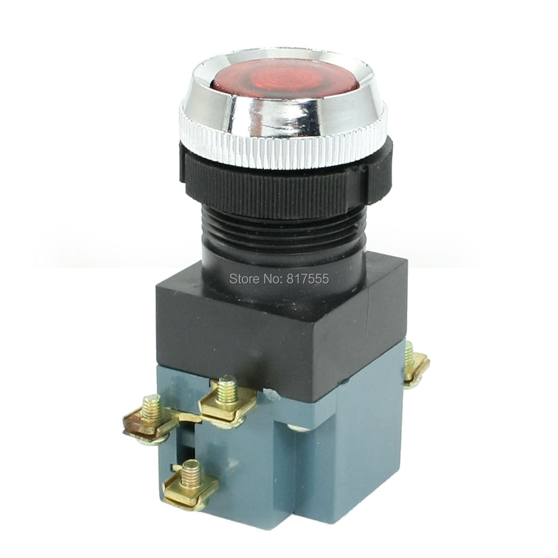 Diameter 22mm AC380V 5A Indicater Light ON OFF START STOP Momentary Push Button Switch(China (Mainland))