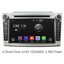 1024*600 Android 4.4.4 Car DVD for Subaru Legacy 2009-2012 with Quad Core GPS Navi Support OBD DVR 3G WIFI 16GB Nand