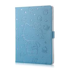 Hot selling cartoon pu leather case for Ipad mini 4 Cute hello kitty smart cover full protect funda book flip capas for mini4(China (Mainland))
