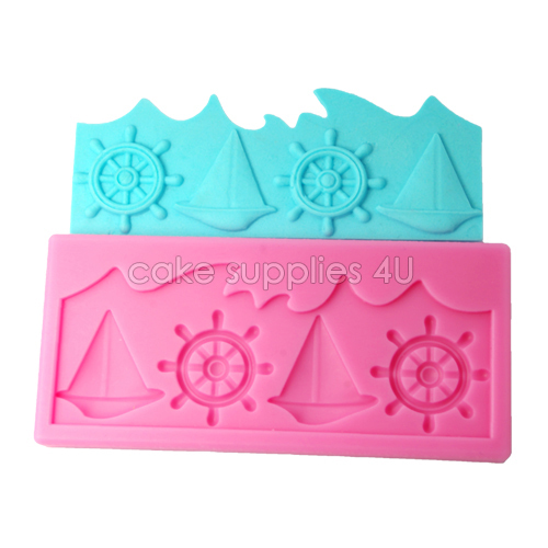 New Unscented Fondant Silicone Molds,Sailing Boat Rudder Shape Sugar Lace Mold,Cake Decorating silicone mold,free shipping(China (Mainland))