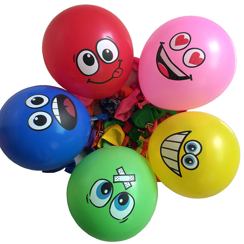 100pcs Big Eyes Smiley Air Balloon, Wedding Decoration Happy Birthday Party Ballons Inflatable Latex Balls Kid Toys 476(China (Mainland))