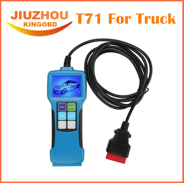 Top Rated OBD Heavy Duty truck Diagnostic scan tool T71 truck OBD diagnostic scanner 12v 24v diesel engine diagnostic scanner(China (Mainland))