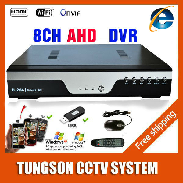 Hot Products 8CH AHD DVR 1080P 25fps AHDNH CCTV Recorder Camera Network 8 Channel IP NVR 4CH Audio Input Multi-language alarm(China (Mainland))