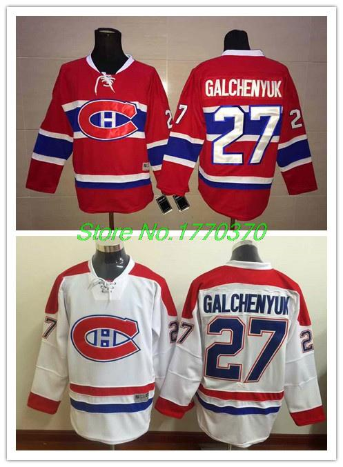 Hot Montreal Canadiens Alex Galchenyuk Jersey Galchenyuk 27 Hockey Jersey White Red With Laces High Quality Free Shipping(China (Mainland))