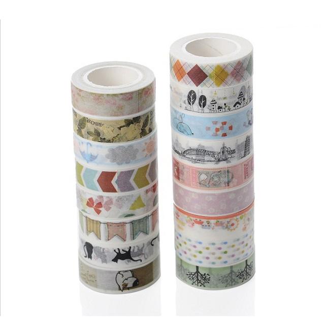 Acheter vrac 50 pcs lote papier collant for Bande adhesive decorative