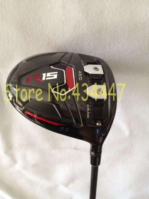 2015 New golf clubs 460cc black R15 driver with speeder graphite shaft 1pc R15 black golf driver come headcover(China (Mainland))