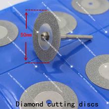 10pcs50mm 2 unids biela. cristal tallado jade disco de corte de diamante rueda