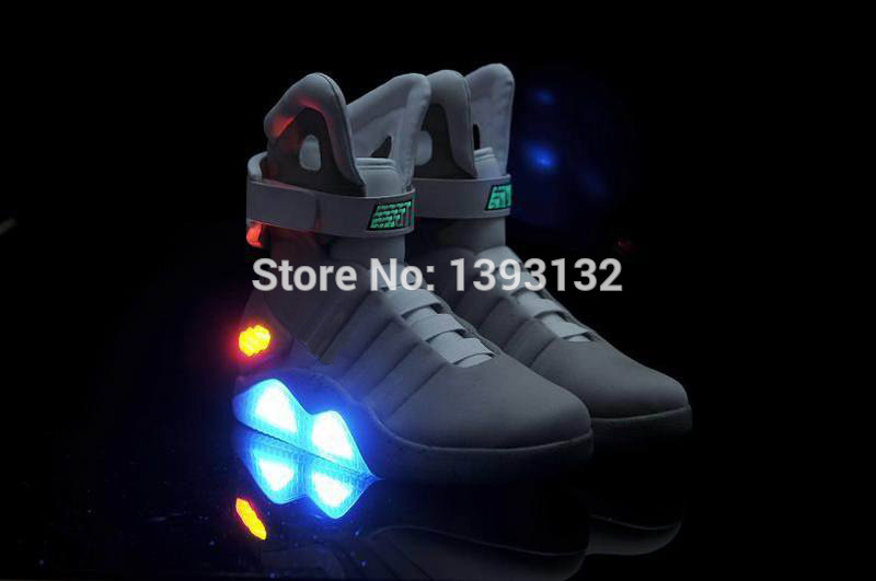 100% Satisfied Free shipping,airs mag glow in the dark back to the future mags limited edition shoes Fast deliver Top quality(China (Mainland))