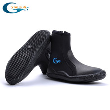 5MM SCR Neoprene Vulcanization High upper scuba dive boots Cold proof Anti slip Skid Keep warm shoes Fishing Winter swim Fins(China (Mainland))