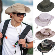 Military Camouflage Mens Bucket Hats Outdoor Fishing Hiking Boonie Snap Brim Woodland Sun Hat Cap Camo New b7 SV003003 - Fashion_hunt store