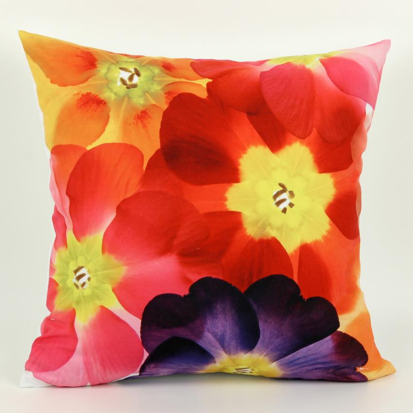 45 *45cm 3D Decorative Throw Pillows Abstraction Flower Cushion Cover housse de coussin 1 Side Printing Cushions Almofadas Sofa(China (Mainland))