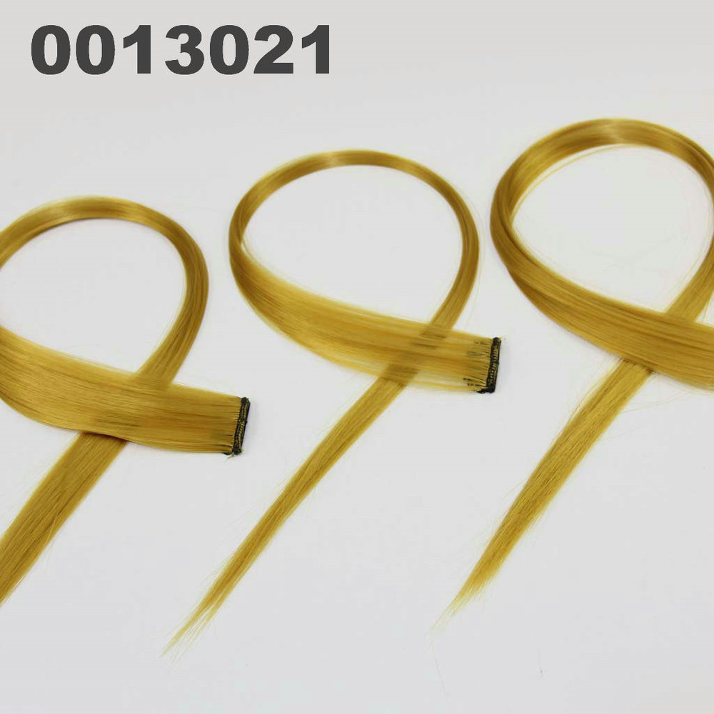 Free shipping Latest top Fashion Synthetic Colorful Hair Clip Straight Hair piece 13021(China (Mainland))