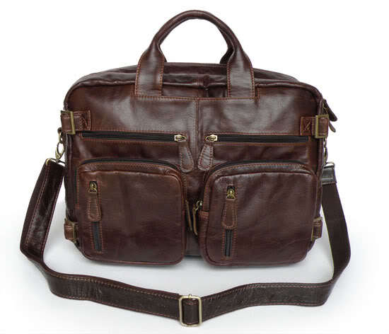 Maxdo Big Large Capacity Genuine Leather Men Messenger Bags 14 inch 15 6 inch Laptop Briefcase