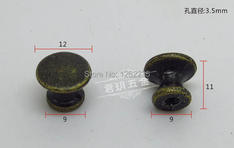 12 * 9 * 11mm Furniture Hardware Handle Antique Handles Drawer door pull ring Round pull buckle Wholesale Delivery(China (Mainland))