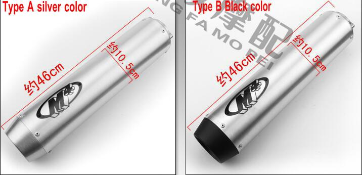 motorcycle exhaust muffler silenciador moto tubo escape moto cb400 vtec GP exhaust for yamaha xjr 400 free shipping