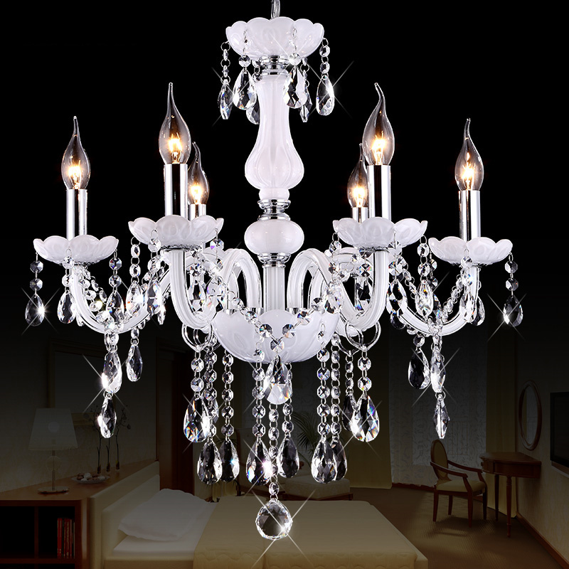 2015 European Style White Crystal Chandeliers Modern LED Chandeliers For Living Room lustres de sala de cristal Free Shipping(China (Mainland))
