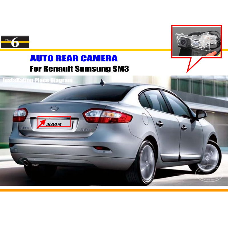 Car Rear View Camera / Reverse Camera / For Renault Samsung SM3 / License Plate Light OEM / HD CCD RCA NTST PAL(China (Mainland))