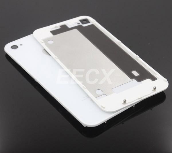 СN 10 шт/лота Замена для iPhone 4S Аккумулятор Крышка задняя крышка двери задней панели зеркального стекла корпуса черный/белый цвет