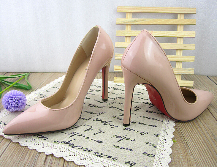 Aliexpress.com : Buy Classic Fashion Women Pumps Pointed Toe Red ...
