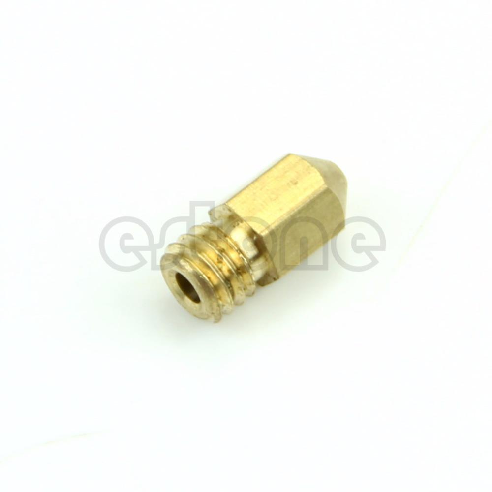 2016 Free Shipping 10pcs lot 0 4mm Copper Extruder Nozzle Print Head for Makerbot MK8 RepRap