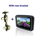 Latest 4 3 waterproof motorcycle gps navigation with 8G flash High Light Screen IPX7 Bluetooth