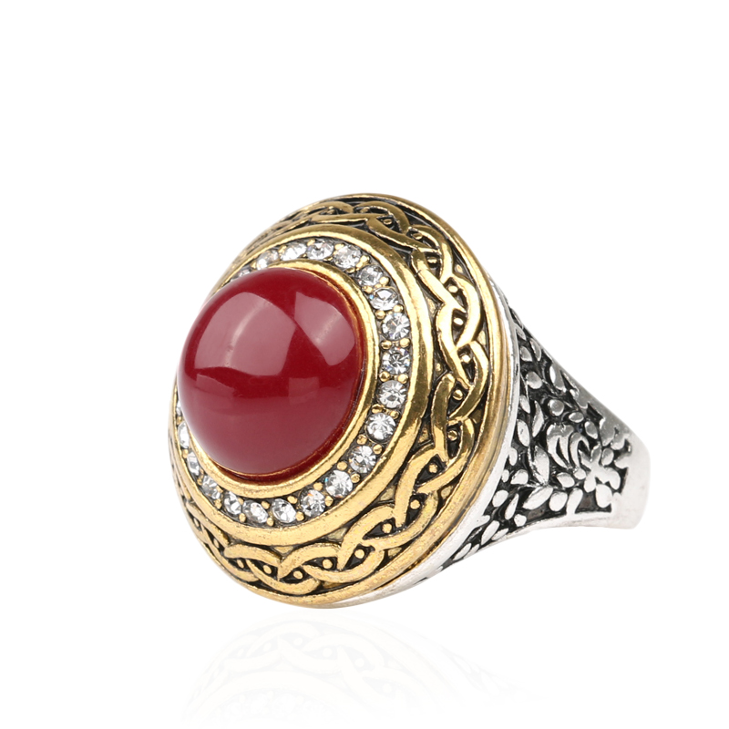 luxury vintage wedding ring fashion gold band inlay