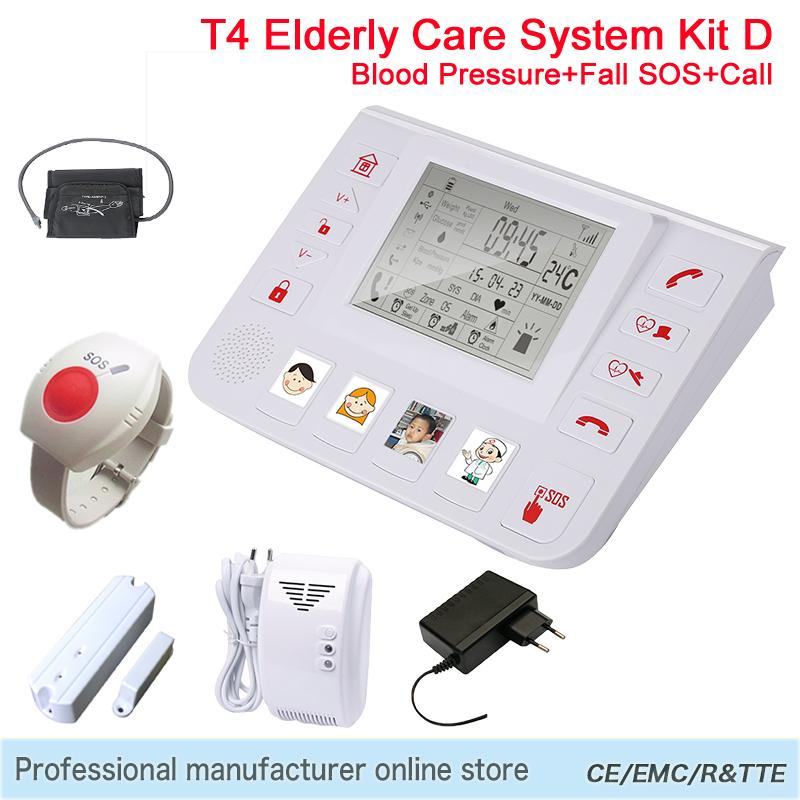 Personal Detector Alarm Panel for Elderly People GSM Home Security Windows Door Panic Button Alarm Bllod Pressure Detect T4D DHL<br><br>Aliexpress