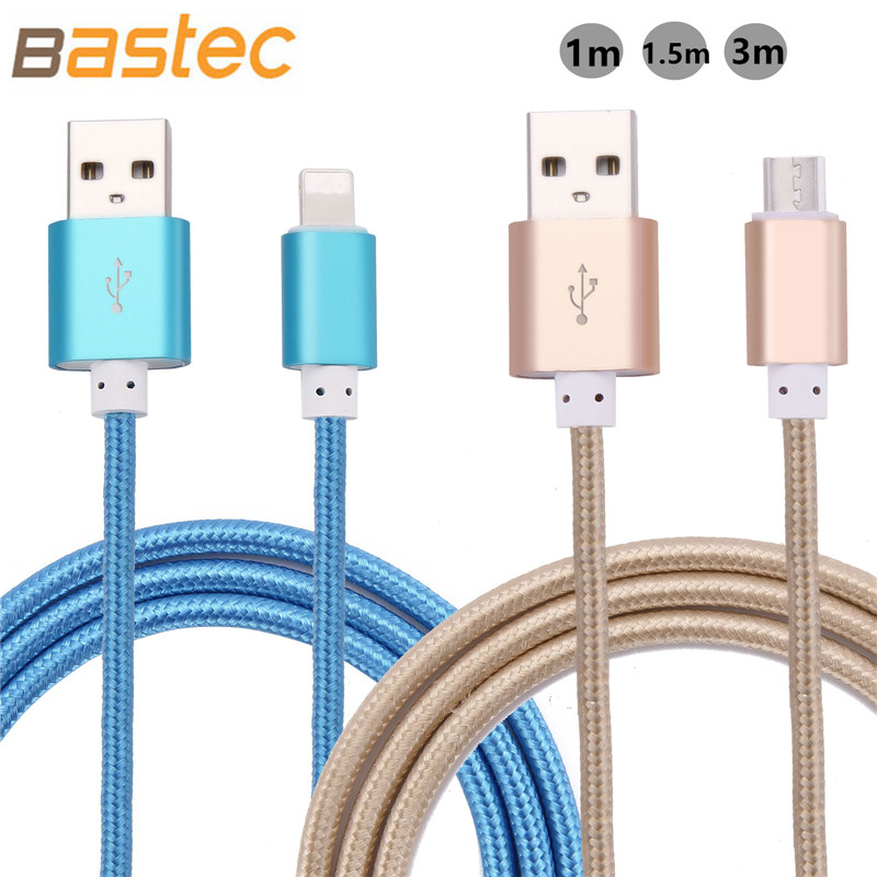 Micro USB Cable 2.1A 1M 1.5M Data Sync Cable Charge For iphone 6 6s Plus 5s ipadmini Samsung Galaxy S4 S3 HTC LG Sony Microusb(China (Mainland))