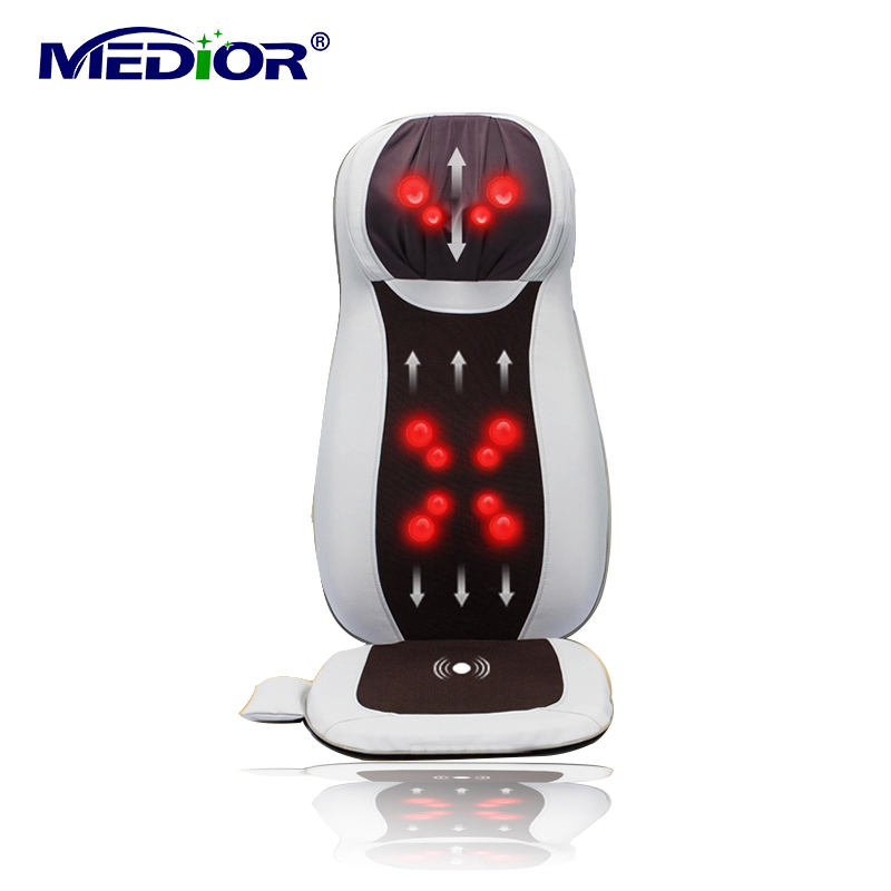 Electric Massage Cushion Electronical Therapy Massager with Heat Rolling Shiatsu Kneading Massager for Home Office Car 80012C(China (Mainland))