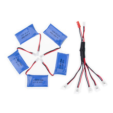 Syma X5C rc Lipo battery 3.7V 850mAh 5pcs and charger cable for syma x5 x5sw x5sc cx30 cx30w Helicopter drone part