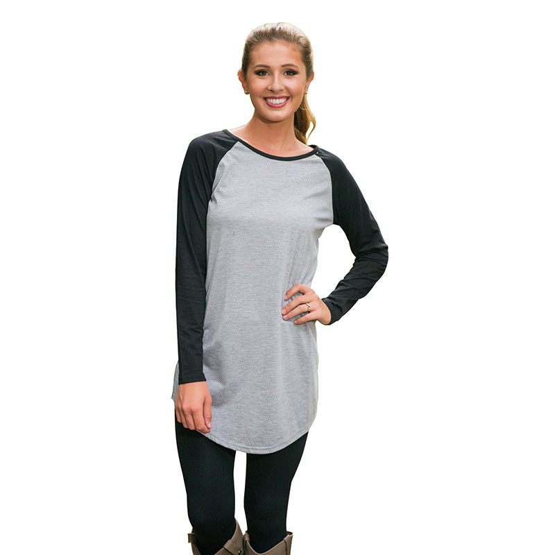 2015 Fall Fashion Long Sleeve Casual T-shirt Plus Size XL Raglan Patchwork Long Tshirt Women O-neck Basic Cotton T Shirt AutumnОдежда и ак�е��уары<br><br><br>Aliexpress