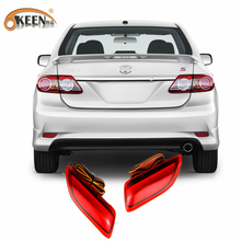 Buy 2011-2012 Toyota Corolla Lexus CT Parking Warning Brake Tail Lamp Red Lens Rear Bumper Reflector Light LED Red Bulb 2pcs for $17.33 in AliExpress store