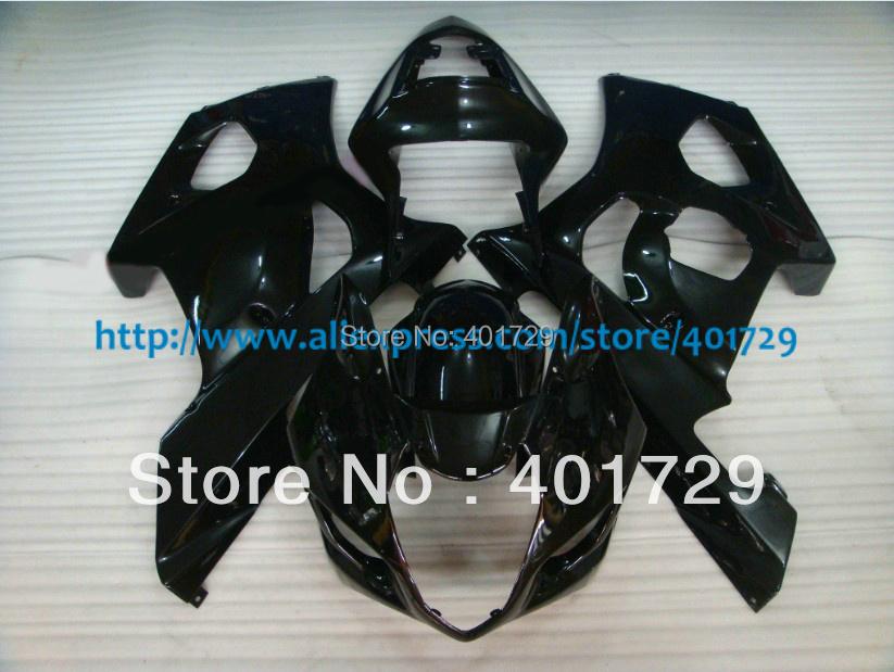 Black Suzuki GSXR1000 GSXR 1000 Gixxer 2003 2004 03-04,Customize ABS Plastic fairing kit(China (Mainland))