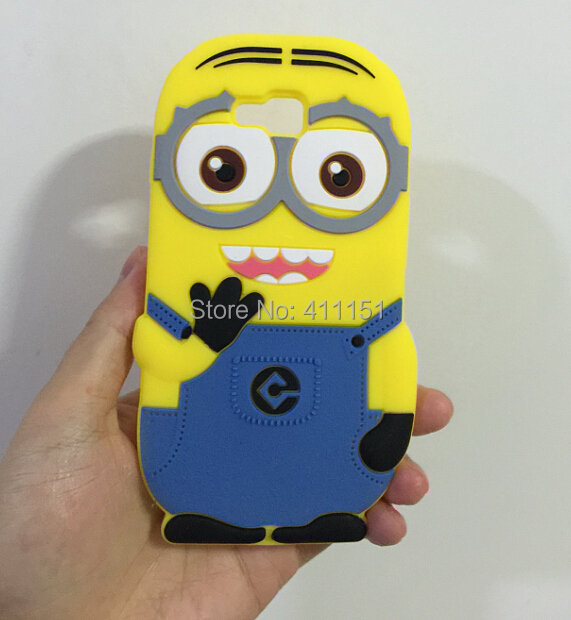 3D Despicable 2 Minions Soft Silicone Back Cover Case LG Optimus L9 II D605 - ALEX ZHOU Store store