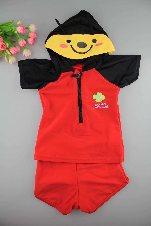 2016 Summer Baby Boy Swimwear Cartoon Animal Cute Character Boys Swimsuit T-shirt With Broadshorts(China (Mainland))