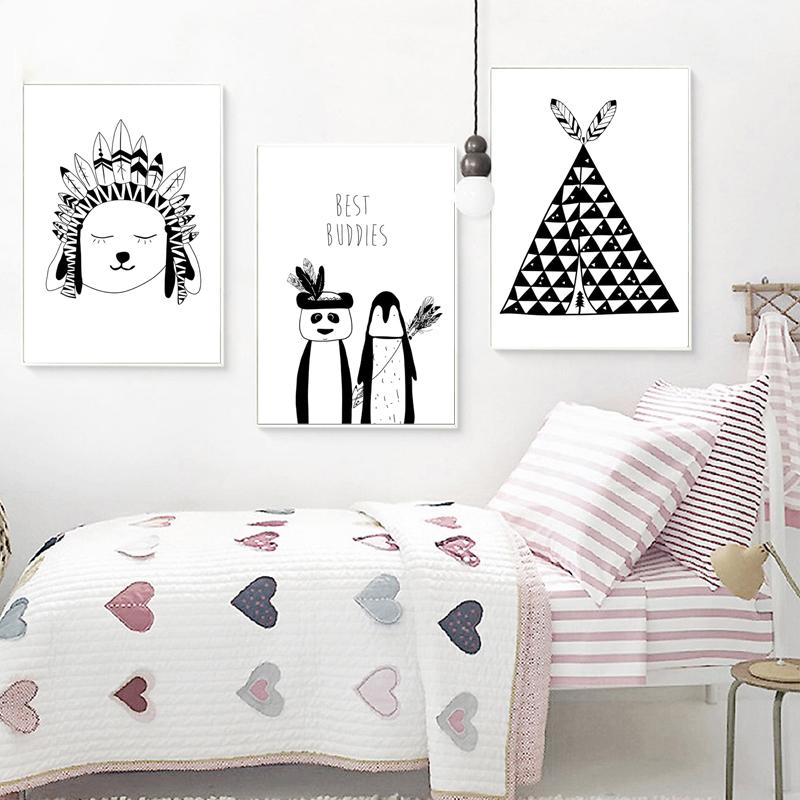 """Bedroom Picture Print /""""Grow Wild/"""" Kids Scandinavian Cactus Print"""