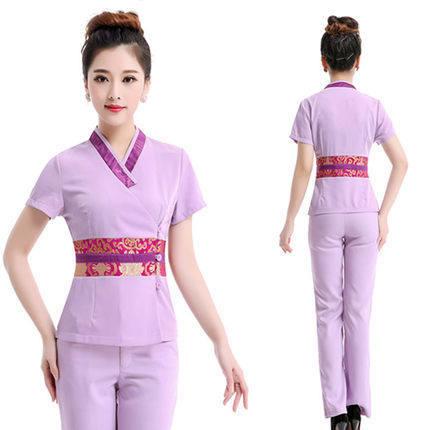 Free Shipping 2015 High Quality Fashion Design Hospital Beauty Salon Staff Women hospital uniform Medical Nursing Uniform(China (Mainland))