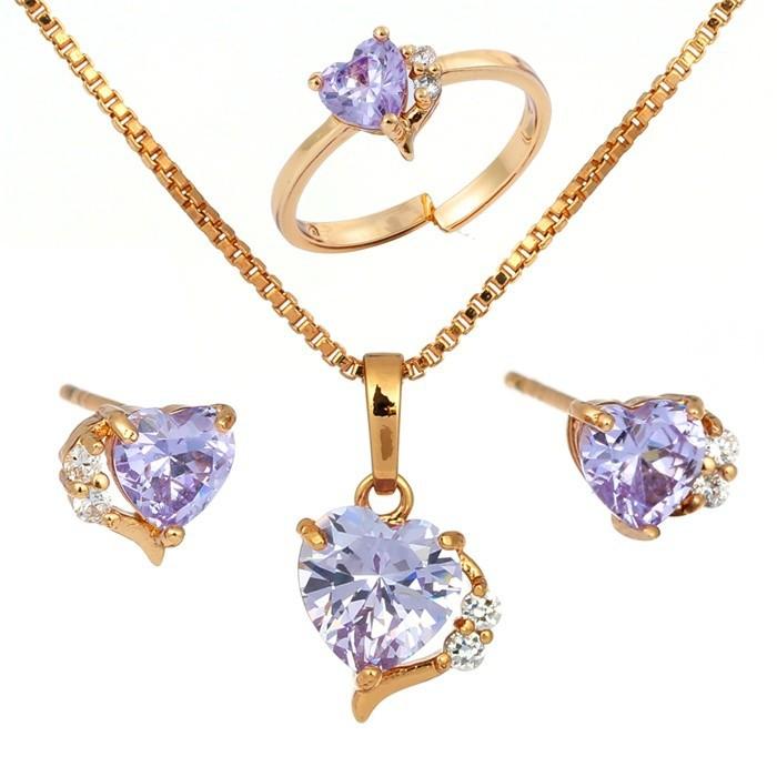 aliexpress buy 18k gold plated lavendar purple