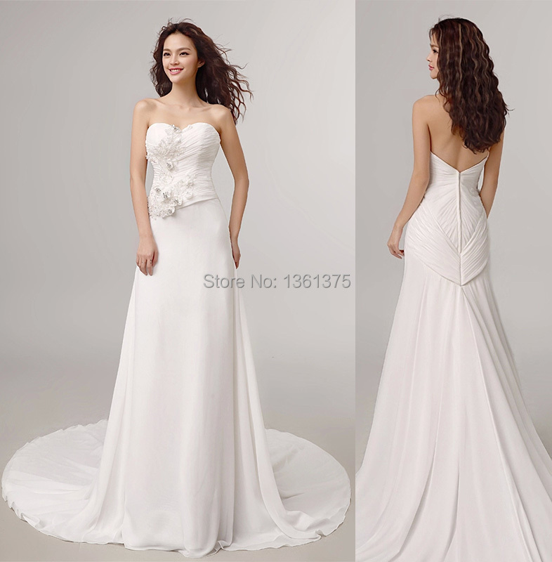 High Qualitysimple Off White Corset Wedding Dresses 2015 A Line Sweetheart Backless Plus Size