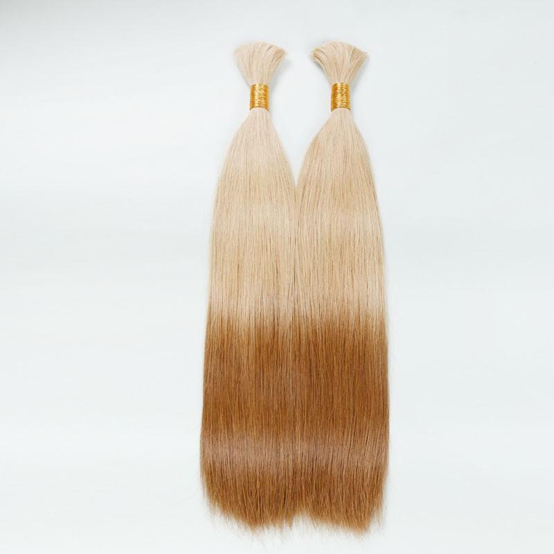 Sleek 10A Brazilian Virgin Hair Maiden Bulk Hair Human Hair 2 PCS/Lot Color DB2/27 Silky Straight Hair