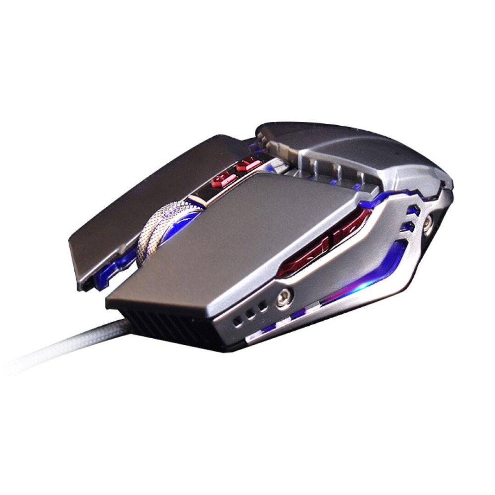Wired 3200DPI USB Ergonomic Optical Gamer Gaming Mouse Mice For PC Laptop Computer 4 Colors LED Backlit Metal Plate Game Mouse(China (Mainland))