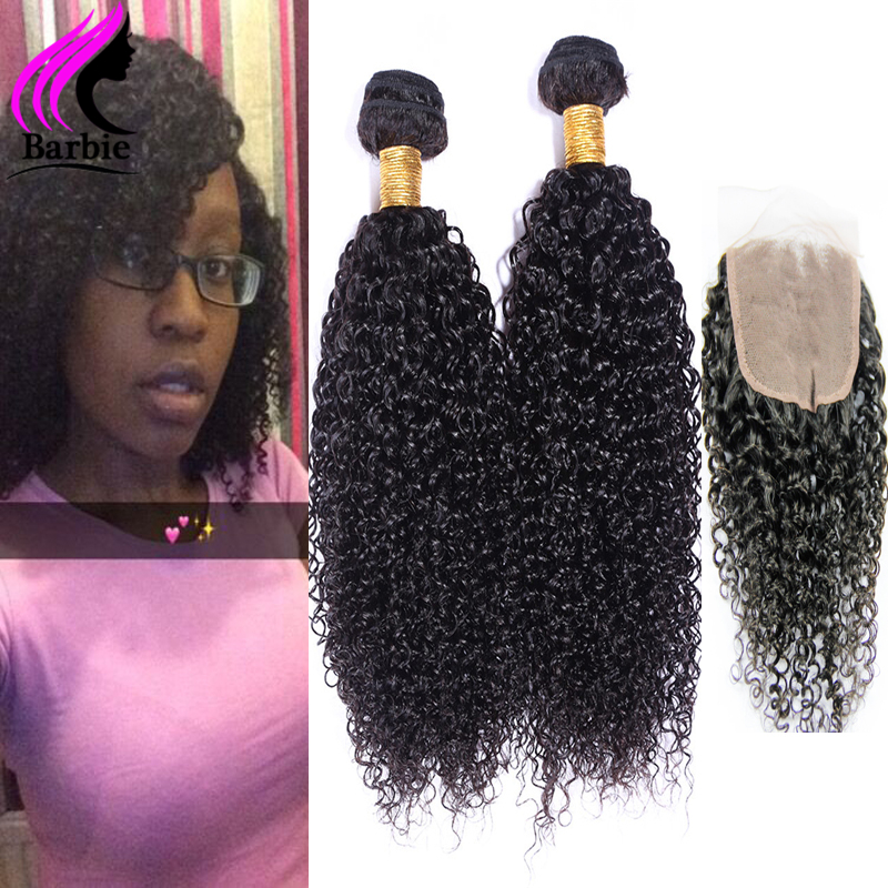 Rosa Mongolian Kinky Afro Kinky Curly Hair 4 Bundles With Closure Mongolian Kinky Curly Virgin Hair With Lace Closure Human Hair<br><br>Aliexpress