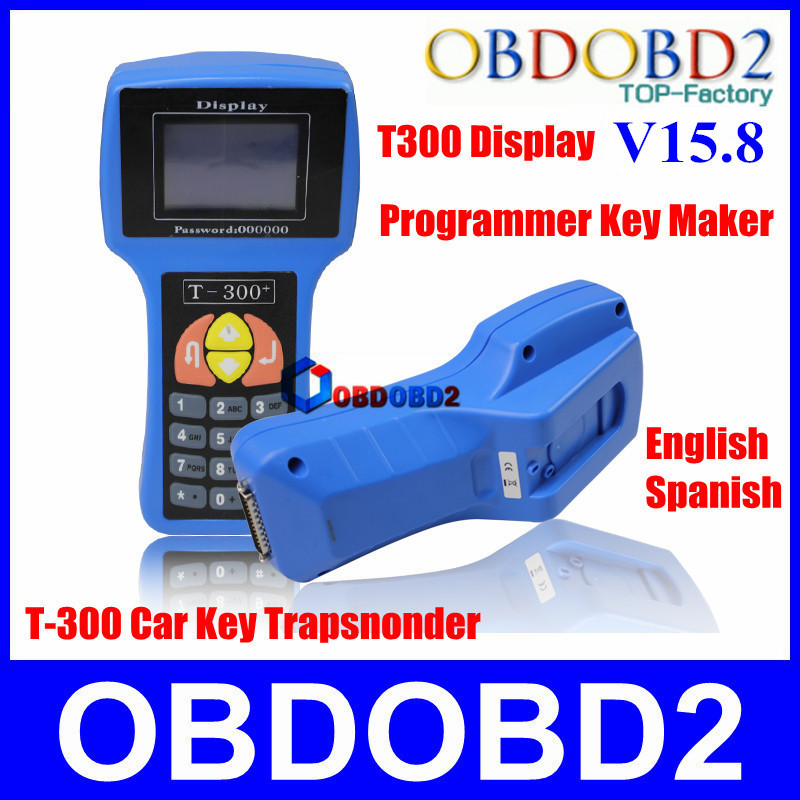Quality A++++ T300 Key Programmer V15.8 T 300 Auto Key Transponder T-code For Multi-brand Vehicles T-300 Programmer Scan Tool(China (Mainland))