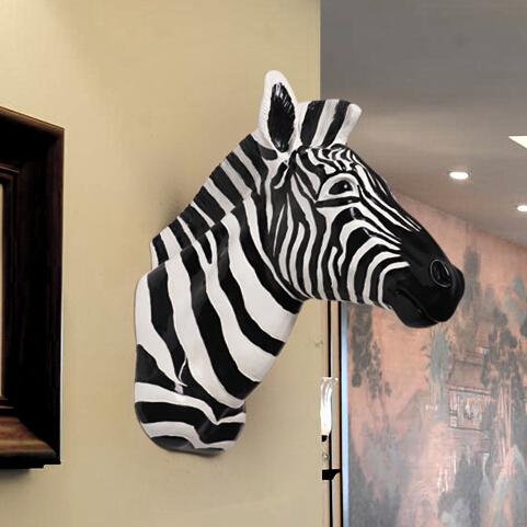 T te d 39 animal d coration murale achetez des lots petit - Tete d animal murale ...